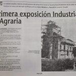 Recuerdo de la primera exposición , Diario Historia Sociedad Rural de Pergamino